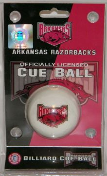 Arkansas Razorbacks Cue Ball
