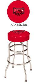 Arkansas Razorbacks Double Rung Bar Stool