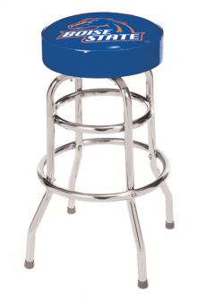 Boise State Double Rung Bar Stool