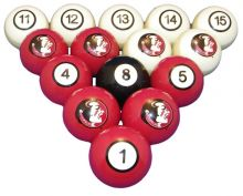 Florida State Billiard Ball Set - NUMBERED