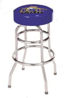 Louisiana State Double Rung Bar Stool