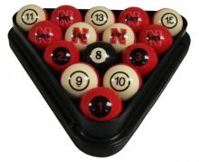 Nebraska Billiard Ball Set - NUMBERED
