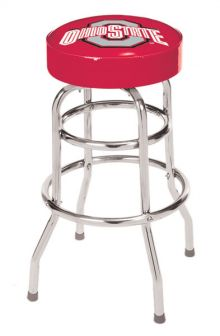 Ohio State Double Rung Bar Stool