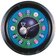 Billiard Ball Neon Clock