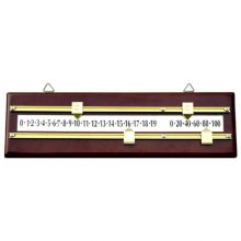 Brass and Mahogany Wall-Mount Scoreboard
