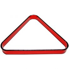 Acrylic Designer Pool Ball Triangle, Red