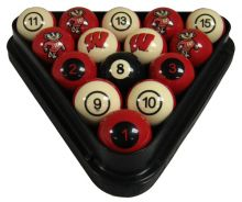 Wisconsin Badgers Billiard Ball Set - Numbered