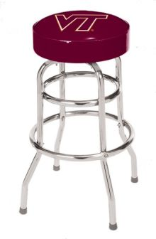 Virginia Tech Double Rung Bar Stool