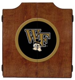 Wake Forest Dart Cabinet (Finish: Pecan Finish)